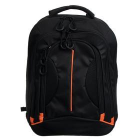 Рюкзак молодёжный Luris «Фаворит», 41 x 31 x 12 см, эргономичная спинка, чёрный