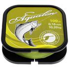 Леска плетёная Aqua Aqualon Olive, d=0,16 мм, 100 м, нагрузка 10,2 кг