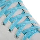 Laces Shoe flat, 10 mm, 100 cm, pair, color blue