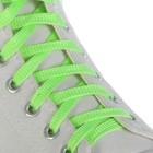 Шнурки для обуви, пара, плоские, 10 мм, 100 см, цвет салатовый