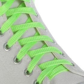 Шнурки для обуви, с плоским сечением, d=10мм, 100см, цвет зелёный Ош