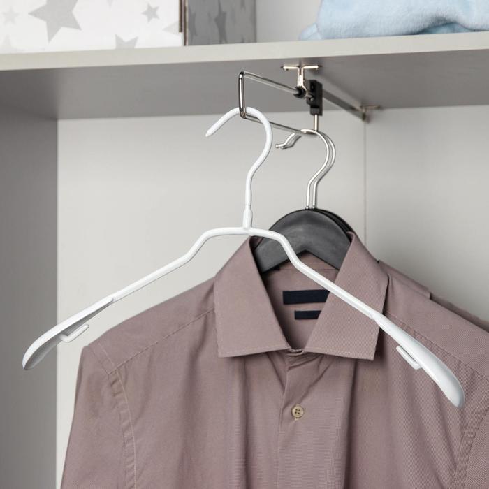 Вешалка-плечики антискользящая, размер 42-44, цвет белый
