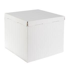 Кондитерская упаковка, короб белый 40 х 40 х 35 см