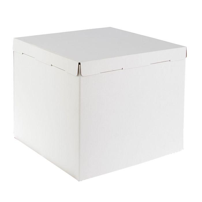 Кондитерская упаковка, короб белый 40 х 40 х 35 см - фото 308035226