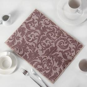 Коврик для сушки посуды «Флёр», микрофибра, 30×40 см, цвет кофе с молоком