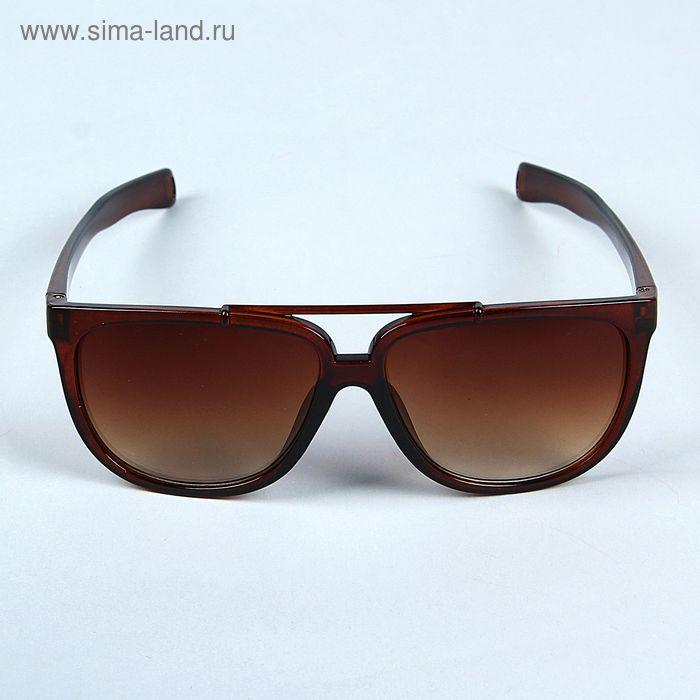 Очки солнцезащитные Square, оправа, дужки и линзы коричневые