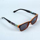 Очки солнцезащитные Square, оправа чёрная / оранжевая, дужки халцедон