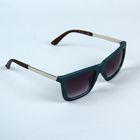 Очки солнцезащитные Wayfarer. Оправа зеленая, дужки хром, линзы фиолетовые 3х4,5х13,5см