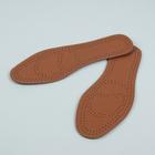 Стельки для обуви, 45 р-р, пара, цвет коричневый