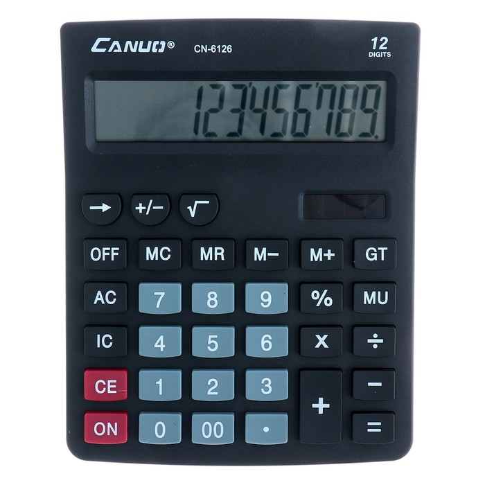 Калькулятор настольный, 12-разрядный, 6126, двойное питание - фото 450117646