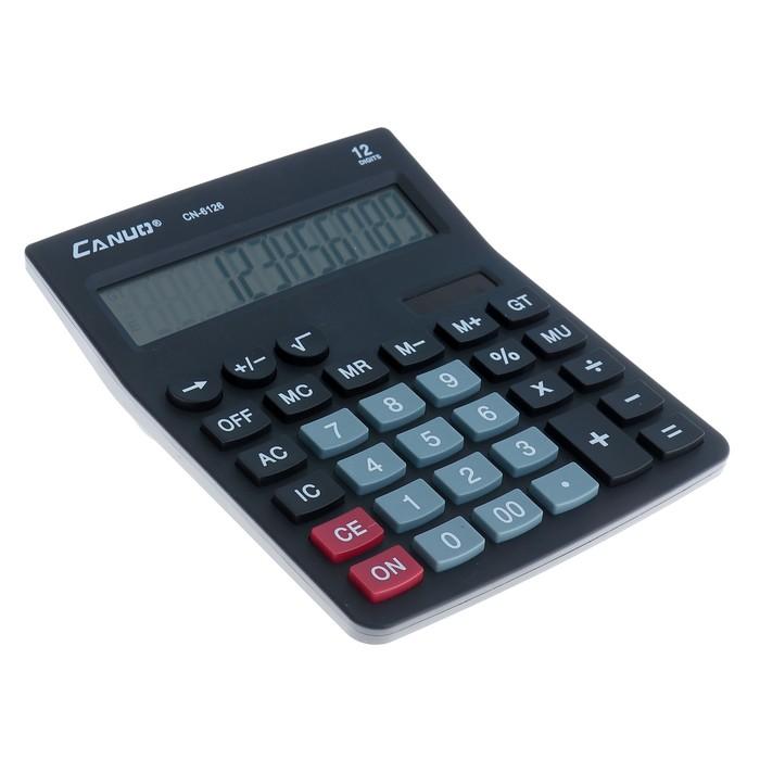 Калькулятор настольный, 12-разрядный, 6126, двойное питание - фото 450117647