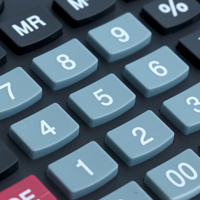 Калькулятор настольный, 12-разрядный, 6126, двойное питание - фото 450117648