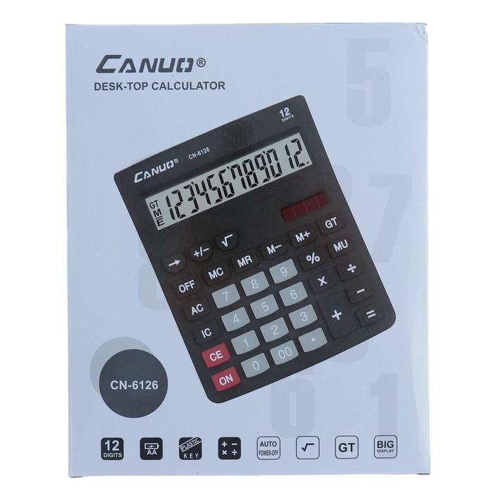 Калькулятор настольный, 12-разрядный, 6126, двойное питание - фото 450117651