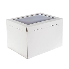 Кондитерская упаковка, короб белый с окном 30 х 40 х 26 см