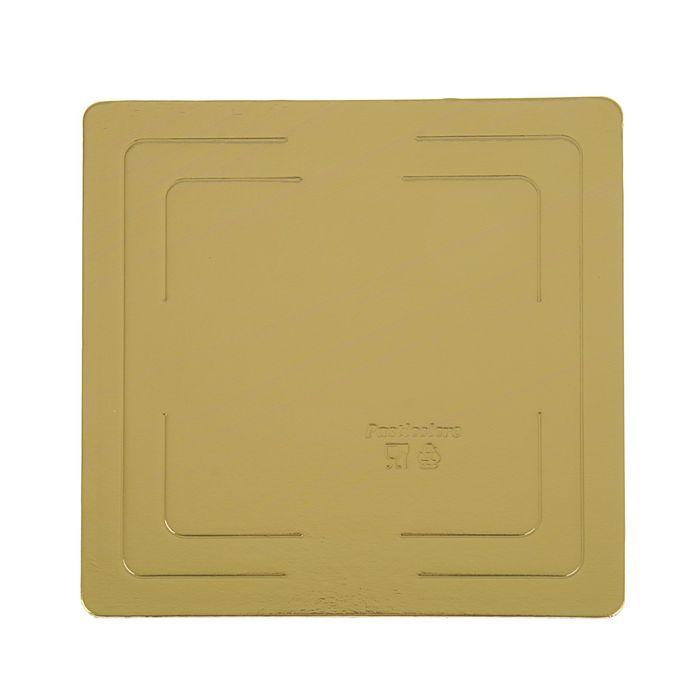 Подложка усиленная 26 х 26  см, золото-жемчуг, 3,2 мм