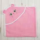 Уголок детский Киска, размер 90*90, цв. розовый, хл100%
