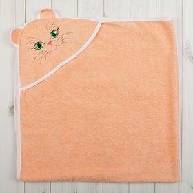 Уголок детский «Киска», размер 90х90 см, цвет персиковый