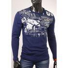 Джемпер мужской арт.0775, цвет джинс, размер 2XL