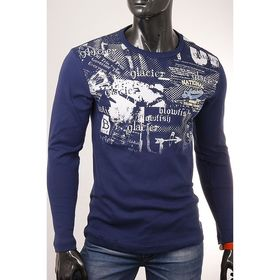 Джемпер мужской арт.0775, цвет джинс, размер 2XL Ош