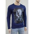Джемпер мужской арт.0787, цвет джинс, размер L