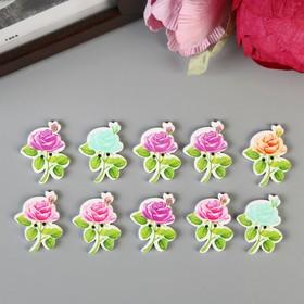 """A set of buttons decorative """"rose"""" (set 10 PCs) MIX of 3x2,3 cm"""