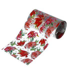 """Переводная фольга для дизайна ногтей """"Цветы"""", 4х50см, разноцветная"""
