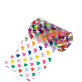 """Переводная фольга для дизайна ногтей """"Сердца"""", 4х50см, разноцветная"""