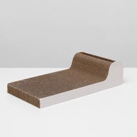 Гофрокогтеточка-диван с шариком, 45 х 22 х 11 см, микс рисунков