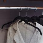Вешалка-плечики, флокированное покрытие, размер 44-46, цвет черный