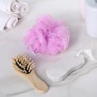 Набор банный, 3 предмета: расчёска, пемза, мочалка, цвет МИКС