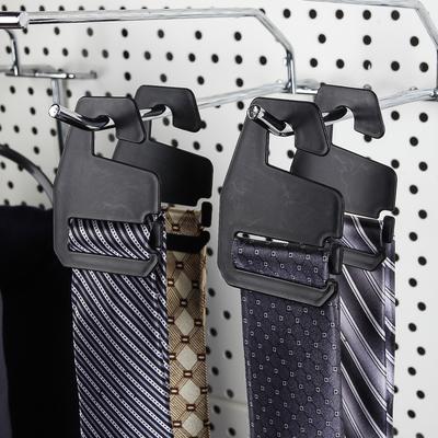 Вешалка для галстуков 4,5*6,7см, цвет чёрный