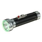 Фонарик ручной 1 LED, рукоять ребристая, чёрный, 5.5х16 см