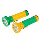 Фонарик ручной, 1 LED, рассеиватель простой, рукоять ребристая, 2D батарея, микс, 6х17.5 см