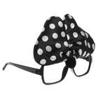 Карнавальные очки «Бантик», цвет чёрный