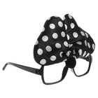 "Carnival glasses ""Bow"", black"