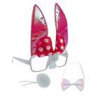 """Карнавальный набор """"Зайка"""" с бантиком 3 предмета: очки, хвост, бабочка, цвета МИКС"""
