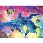"""Алмазная вышивка с частичным заполнением """"Дельфины"""", 40 х 30 см"""