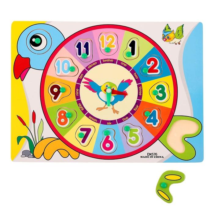 """Часы рамка-вкладыш """"Птичка"""", 13 элементов"""