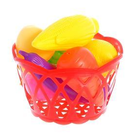 """Набор продуктов """"Фрукты и овощи в корзине"""", 8 предметов, МИКС"""