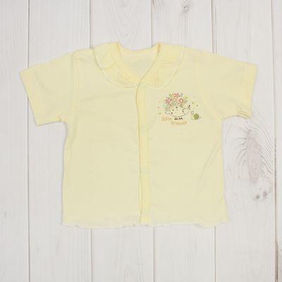 """Кофточка на кнопках """"Ежик"""", рост 56 см, цвет жёлтый ЯВ128100_М"""