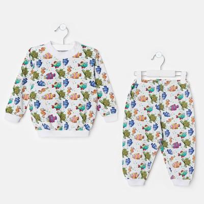 """Пижама для девочки """"Морской мир"""", рост 92 см, цвет белый ЯВ137172_М"""
