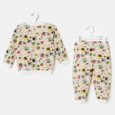 """Пижама для мальчика """"Улитки"""", рост 92 см, цвет жёлтый ЯВ137174_М"""
