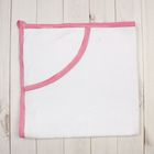 Полотенце-уголок, размер 80х80 см, цвет белый/розовый ЯВ108248