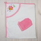 Комплект для купания (2 предмета), цвет белый/розовый ЯВ112279