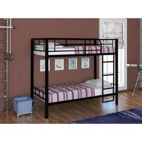 Кровать двухъярусная RedFord 202, цвет чёрный