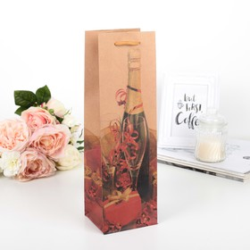 Пакет подарочный под бутылку 'Шампанское', 11 х 10 х 36 см Ош