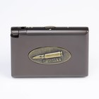 "Cigarette case with gas lighter ""Cartridge"", 9х11 cm"