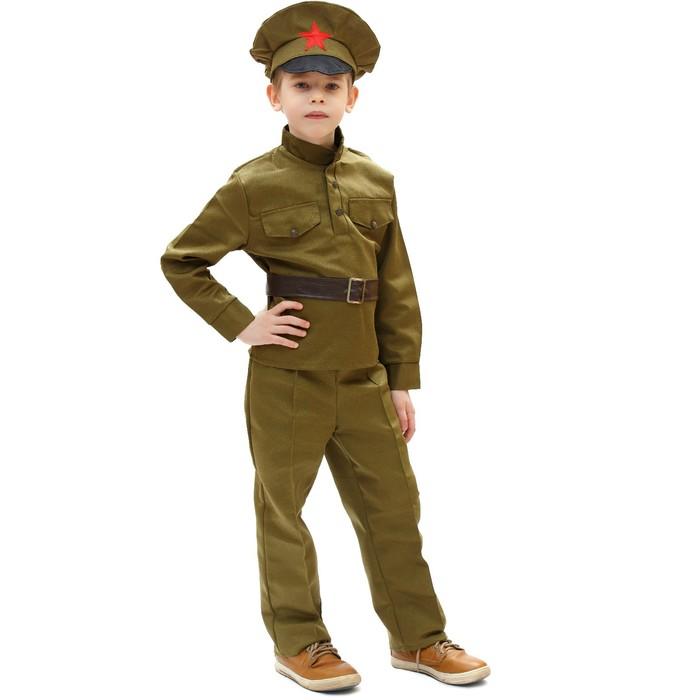 """Карнавальный костюм """"Сержант"""", 3-5 лет, рост 104-116 см - фото 105522240"""