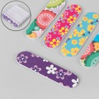 Nail file-emery, abrasiveness, 180/180, 8 cm, packing 20 PCs, pattern MIX