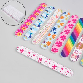 Nail file-emery, abrasiveness, 180/180, 15 cm, packing 20 PCs, pattern MIX